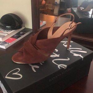 Never worn!! Banana Republic brown suede heel!